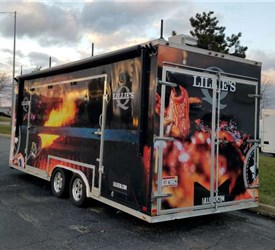 BBQ Or Food Service Concession Trailer With Stage