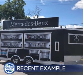 Custom 18' Experiential Marking Trailer for Mercedes-Benz