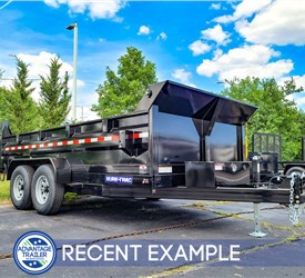 7'x14' Sure-Trac Heavy-Duty Dump Trailer - Recent Example