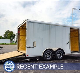 Formula 8.5'x16' Round Top Landscaping Trailer- Recent Example
