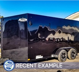 7'x14' Formula Motorcycle Trailer - Blackout (Recent Example)