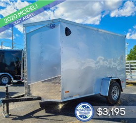 6'x10' MTI Cargo Trailer with Rear Cargo Doors