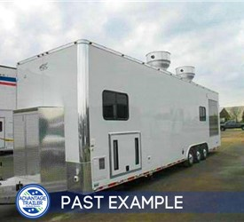 8.5'x34' Competition BBQ Trailer - Past Example