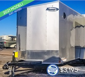 6'x12' Formula Traverse Enclosed Cargo Trailer - Silver