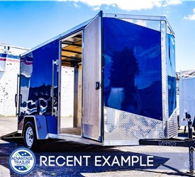 MTI 6'x12 Enclosed Cargo Trailer - Indigo Blue (Recent Example)