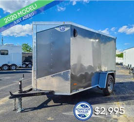 5'x10' MTI Cargo Trailer with Rear Cargo Doors