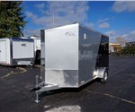 6' x 12' Two-Tone Enclosed Cargo Trailer with 2' Wedge Nose
