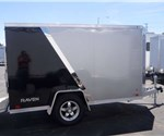 Custom Enclosed Two-Tone 5' x 10' Motorcycle Hauler