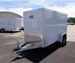 5' x 10' Polar White Cargo Trailer