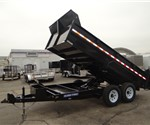 14' Low Profile Scissor Lift Dump Trailer