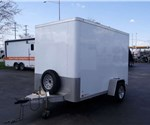 USED Enclosed Polar White 6' x 10' Cargo Trailer by the Aluminum Trailer Company