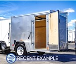 MTI 5'x8' Enclosed Cargo Trailer - Silver (Recent Example)