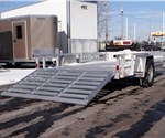 7' x 12' All Aluminum Utility Trailer with Removable Side Ramps