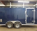 Custom Indigo Blue 7' x 16' Cargo Trailer