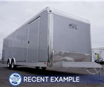 28' Aluminum Enclosed Car Hauler - Silver Frost