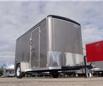 6' x 12' Pewter Cargo Trailer with a Light Duty Rear Ramp Door