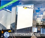6'x10' Stealth Titan Enclosed Cargo Trailer - White