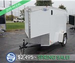5'x8' White Cargo Trailer with Rear Double Swing Doors