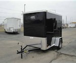 Enclosed Black 5' x 8' Motiv Cargo Trailer