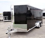 Enclosed Black 7' x 16' ATC – Aluminum Trailer Company Motorcycle Trailer