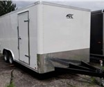 Enclosed Polar White 8.5' x 16' Landscape Trailer by ATC – Aluminum Trailer Company