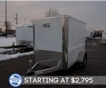 5' x 8' Aluminum Enclosed Cargo Trailer - White