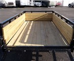 5' x 10' Black Tube Top Utility Trailer with Three Board Sides