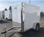 Enclosed Polar White 5' x 8' Cargo Trailer by ATC