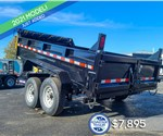 7'x12' Sure-Trac Heavy Duty Low Profile Dump Trailer
