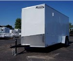 Enclosed White 6' x 12' Cargo Trailer with Rear Swing Doors