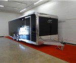 Enclosed Black 8.5' x 24' Car Hauling Trailer built by ATC