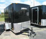 Enclosed 5' x 8' Motiv Raven LT with swing doors