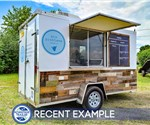 Custom Shaved Ice Trailer - Recent Example
