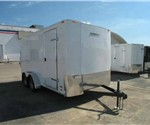 ENCLOSED 7'X14' CARGO TRAILER WITH RAMP DOOR
