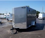 Enclosed Pewter 6' x 12' Cargo Trailer with Rear Ramp Door