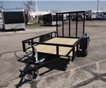 5' x 8' Black Tube Top Utility Trailer