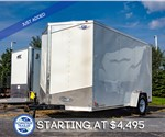 MTI 7'x12' Enclosed Cargo Trailer - White