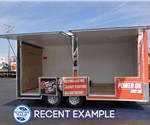 8.5' x 16' Mobile Outdoor Power Tool Showroom Trailer
