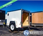 MTI 4'x6' Enclosed Cargo Trailer - White
