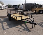 Open Black 5' x 10' U.S. Cargo Utility Trailer