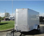 Enclosed Silver 6' x 12' Motiv Cargo Trailer with Wedge Nose
