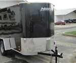 Enclosed Black 5' X 10' Motiv Cargo Trailer with Wedge Nose