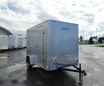 Enclosed Silver 6' X 10' Motiv Cargo Trailer