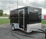 Enclosed Black 6' x 12' Motiv Cargo Trailer