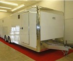 Polar White 8.5' x 28' ATC Enclosed Car Hauler