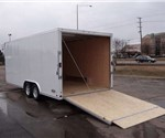 Enclosed Polar White 8.5' x 20' ATC – Aluminum Trailer Company Car Hauler Trailer