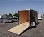 Enclosed Black 6' x 10' Cargo Trailer with 2' Wedge Nose