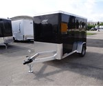 5' x 10' Black Aluminum Framed Cargo Trailer