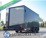 7'x14' Stealth Titan Motorcycle Trailer - Blacked Out
