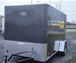 Enclosed Medium Charcoal 6' x 12' Motiv Cargo Trailer